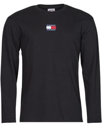 Tommy Hilfiger TJM LS TOMMY BADGE TEE T-shirt - Noir