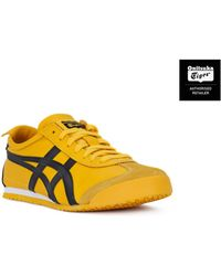 Asics - Onitsuka Tiger Mexico 66 Yellow Women's Shoes (trainers) In Yellow - Lyst