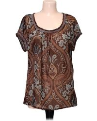Monsoon Top manches courtes - Taille 44 Blouses - Marron