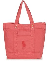 Polo Ralph Lauren Boodschappentas Pp Tote Sunfaded Chino - Rood