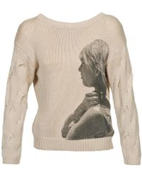 Brigitte Bardot - Arlette Women's Jumper In Beige - Lyst