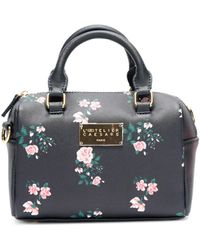 Atelier Caesars Small Floral Bowling Bag Women's Handbags In Blue