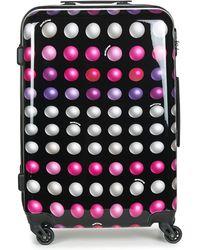 David Jones Fredegar 57l Hard Suitcase - Multicolour