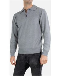 Kebello Pull col camioneur Taille : H Gris M Pull