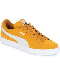 PUMA Suede Classic Men s Shoes (trainers) In Yellow in Yellow for ... fd55ed1c8