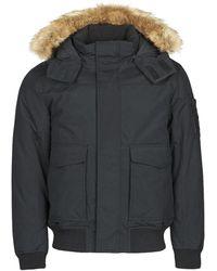 Calvin Klein Parka Jas Fur Trimmed Down Jacket - Zwart