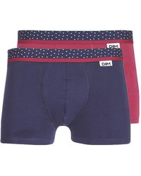 DIM Boxers Mix And Dots X3 - Blauw