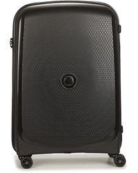 Delsey 72 Cm 4 Double Wheels Trolley Case Hard Suitcase - Black