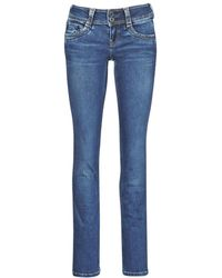 Pepe Jeans Straight Jeans Gen - Blauw