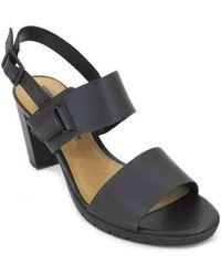 Clarks - Kurtley Shine Women's Sandals Women's Sandals In Black - Lyst