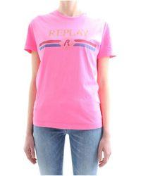 Replay T-shirt W3940H.000.22536G - Rose