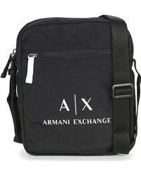 92b36d5ce51 Armani Exchange - TROUDATTE hommes Sacoche en Noir - Lyst