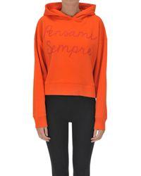 Giada Benincasa FTT000C10016I Sweat-shirt - Orange