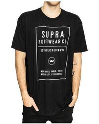 Supra T-shirt T QUAD - Noir