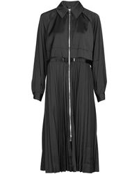 Karl Lagerfeld TECHNICAL PLEATED TRENCH - Negro