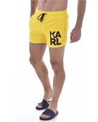 Karl Lagerfeld Zwembroek Kl21mbs02 - Geel
