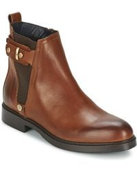 Tommy Hilfiger - Holly 3a Women's Low Ankle Boots In Brown - Lyst