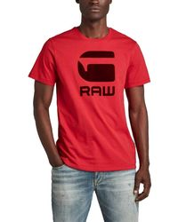 G-Star RAW Flock hamburger logo r t Compact - Rojo