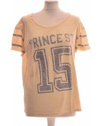 Maison Scotch Top Manches Courtes 36 - T1 - S T-shirt - Neutre