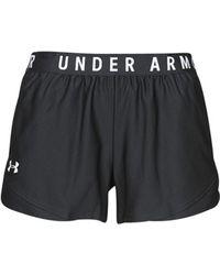 Under Armour Damen UA Play Up Shorts 3.0 Schwarz XS - Lila