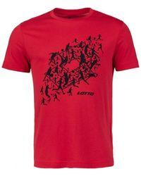 Lotto Leggenda 215863-592 T-shirt - Rouge