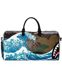 Sprayground Camokawa Wave Shark Sac de sport vert SPR9 Sac