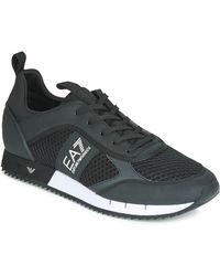 EA7 Lage Sneakers Laces U - Zwart