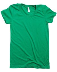 American Apparel Womens Crew Tee Women's T Shirt In Green