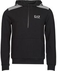 EA7 Sweatshirt TRAIN 7 LINES - Schwarz