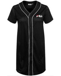 Fila ROBIN BUTTON BASEBALL DRESS Robe - Noir