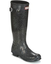 HUNTER - Original Starcloud Tall Women's Wellington Boots In Black - Lyst