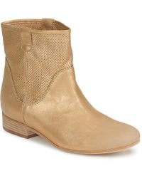 Vic Matié - Nal Women's Mid Boots In Gold - Lyst