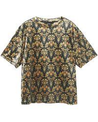 Desigual Camiseta 20WWTKXO - Metálico