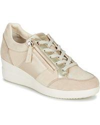 Geox Hoge Sneakers D Stardust - Naturel