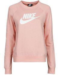 Nike Felpa Nsessntl Flc Gx Crew - Rosa