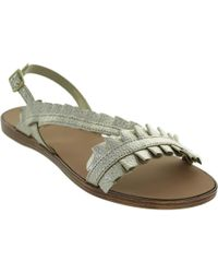 Pieces - Mindy Women's Sandals In Gold - Lyst