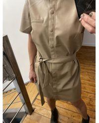 H&M Robe simili cuir hm Robe - Multicolore