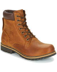 Timberland Laarzen Ek RUGGED 6 In Plain Toe Boot - Bruin