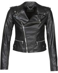 Guess Leren Jas Khloe Jacket - Zwart