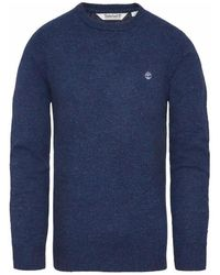 Timberland Beech River Merino Crew Jumper Maglione Blu Sweat-shirt - Bleu
