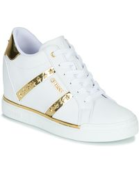 Guess Hoge Sneakers Fl5fay-ele12-white-gold - Wit