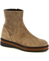 Leonardo Shoes 3860/5 VELVET TAUPE - Gris