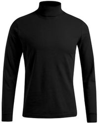 Promodoro T-shirt manches longues col tortue grandes tailles Hommes T-shirt - Noir