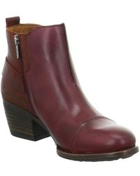 Pikolinos - Baqueira Women's Low Ankle Boots In Red - Lyst