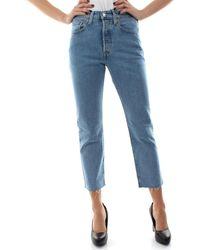 Levi's 36200 0096 L.30 - 501 CROP Jeans 3/4 & 7/8 - Bleu