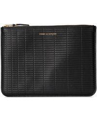Spartoo Brick Line Black Leather Purse Purse Wallet