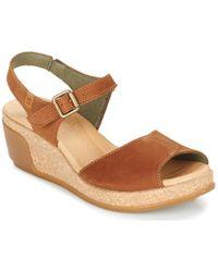 El Naturalista - Leaves Women's Sandals In Brown - Lyst