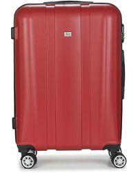 David Jones Chauvetto 72l Hard Suitcase - Red