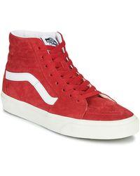 Vans Sk8-Hi para mujer - Rojo