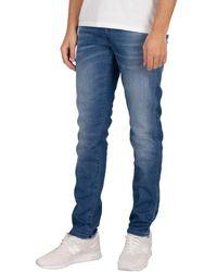 Jack & Jones Jean slim Glenn 8894 Rock Jeans - Bleu